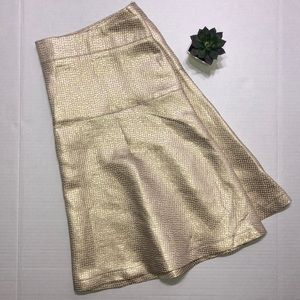 New York & Company > Gold A-line Skirt